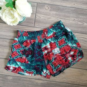 Junior Girl's Mossimo Tropical Flowers Shorts Sz M